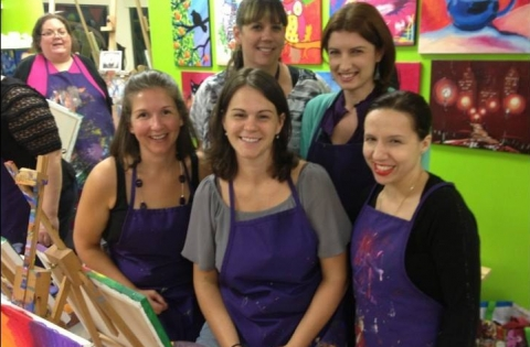 Moms' Night out at A Painting Fiesta
