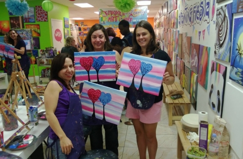 Moms Night Out at A Painting Fiesta